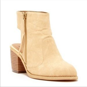 Manon open back Western ankle booties